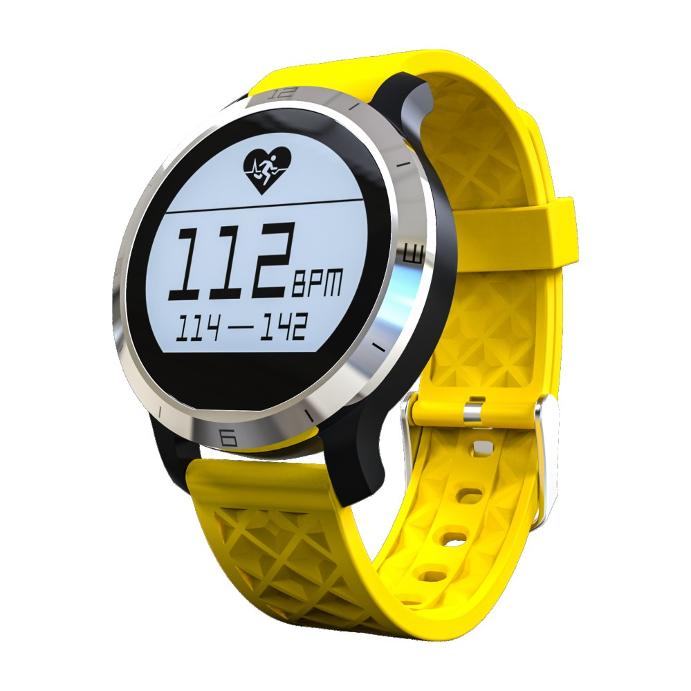 Smartch F69 Smart Watch IP68 Waterproof Pedometer Sedentary Reminder Heart Rate SMS Reminder Smartwatch for Iphone