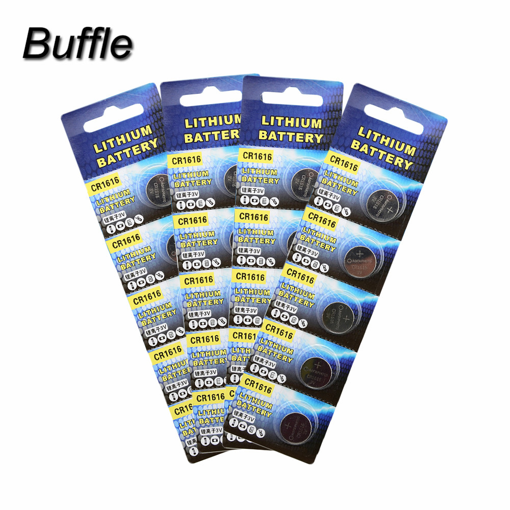 20pcs/lot Wama CR1616 Button Cell Batteries 3V 50mAh Watch Accessories 1616 ECR1616 LM1616 Coin battery Drop Shipping