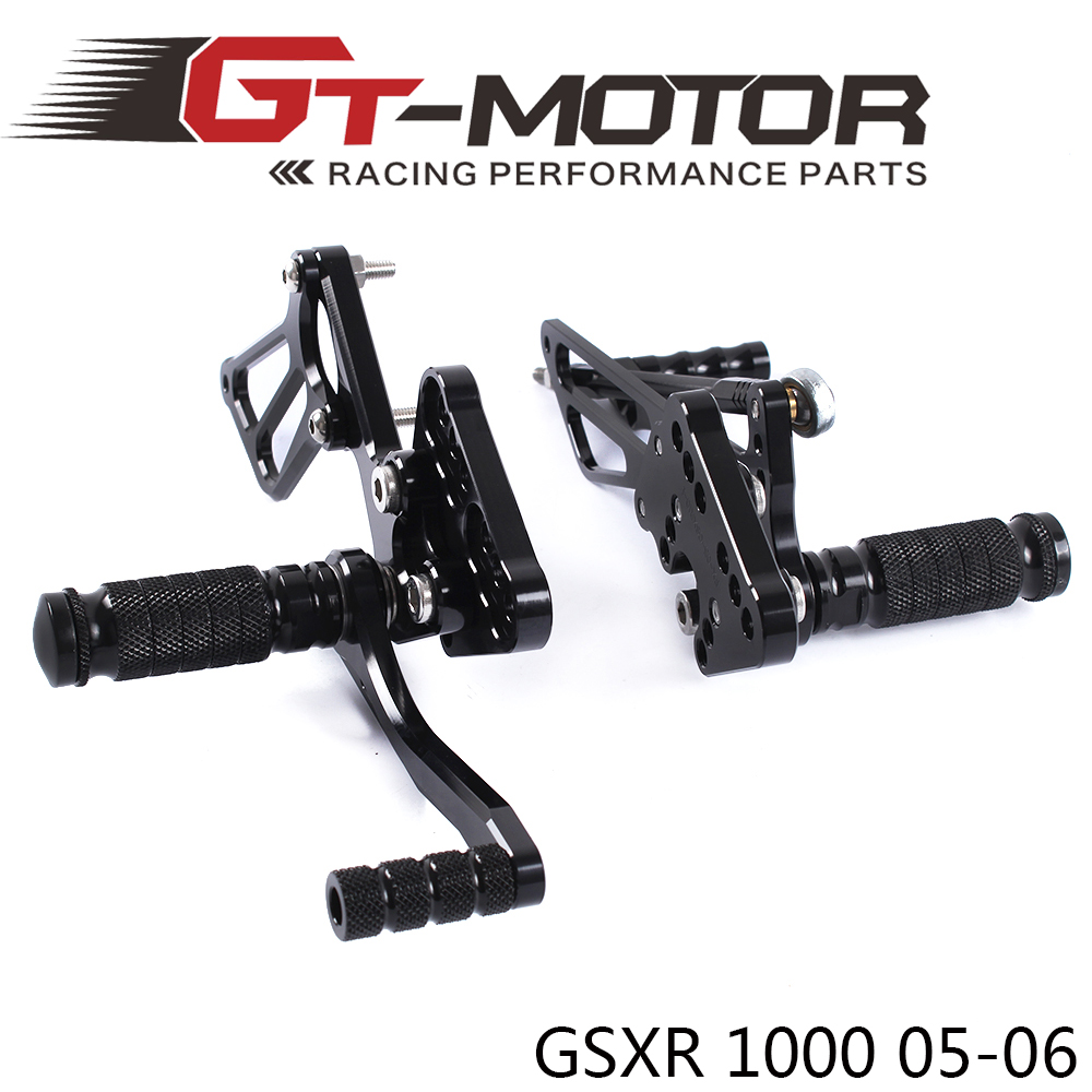 ФОТО GT Motor - Full CNC aluminum Motorcycle Rearsets Rear Set For SUZUKI GSXR1000 2005-2006