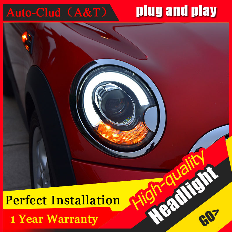 Auto Clud Car Styling For BMW mini R56 headlights 2007-2013 For R56 head lamp led front Bi-Xenon Lens Double Beam HID KIT auto clud car styling for bmw 1series e87 120i 130i headlights for e87 head lamp led drl front bi xenon lens double beam hid kit