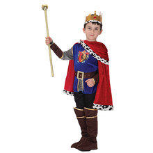 Kids Noble Medieval Renaissance Prince King Arthur Costume for Boys Fancy Halloween Purim Party Carnival Cosplay