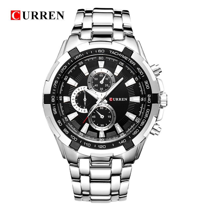 CURREN Quarz männer Uhren Top-marke Luxus Männer Military Armbanduhren Voller Stahl Männer Sport Uhr Wasserdicht Relogio Masculino
