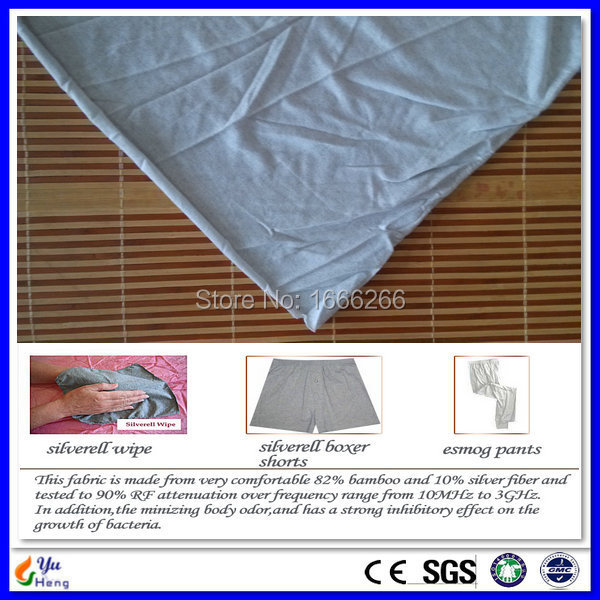 US $15 16 |Aliexpress com : Buy YSILVER76# Antibacterial silver fabric  Knitted Bamboo fabric from Reliable bamboo fabric suppliers on