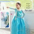 Vestido Por Encargo Vestido Película Cosplay Elza Traje Congelados Elsa disfraz fantasia Vestido Roupas infantil meninas princesa