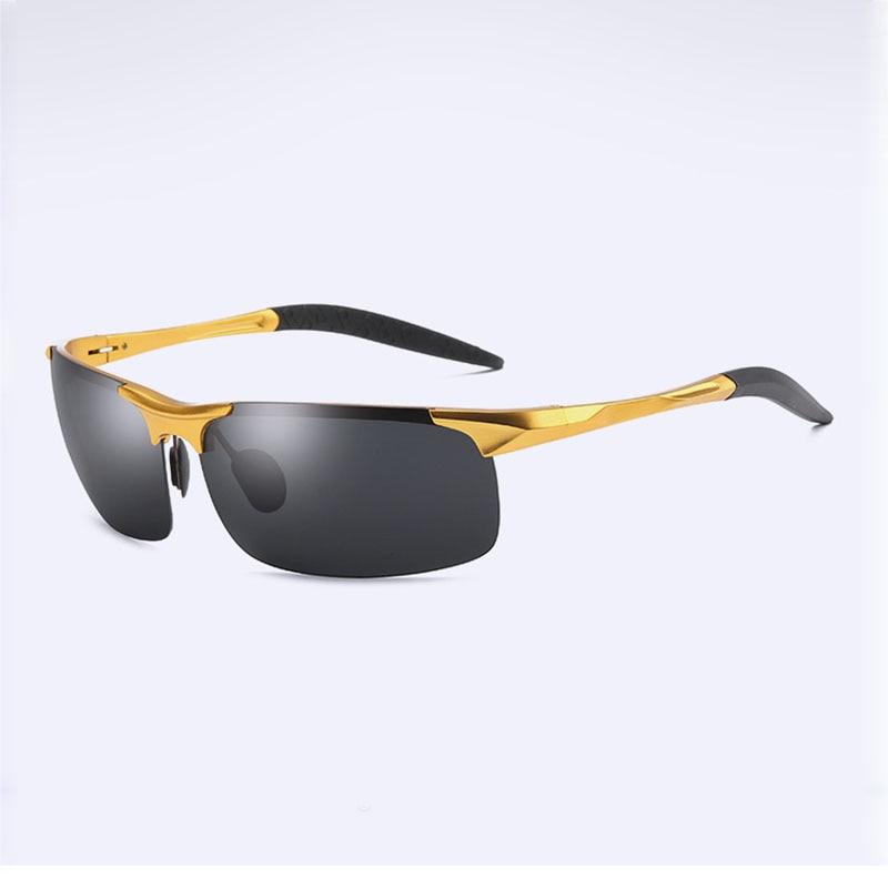 Алюминий магния поляризованные солнцезащитные очки мужские рыболовные очки для отдыха поляризованный Рыбалка Очки 8177 ездить очки Очки