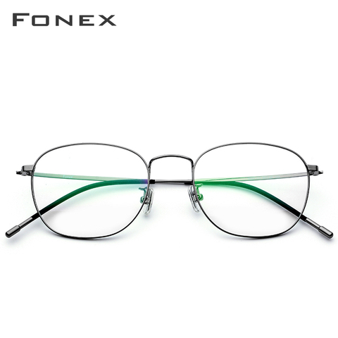 Titanium Alloy Glasses Frame Men Ultra Light Full Square Myopia Prescription Eyeglasses 2018 Fashion Women Optical Frame Eyewear Karachi