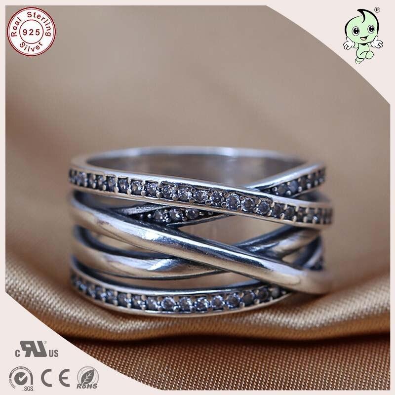Новое поступление известный бренд Серебряный Интимные аксессуары большой 100% стерлингового серебра 925 Пять круги кольцо