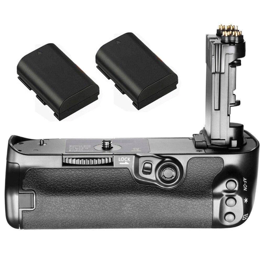 JINTU Obturateur Vertical Batterie Power Grip + 2 pcs LP-E6 Kit Pour Canon 5D4 5DIV 5D Mark IV Batterie Grip comme BG-E20
