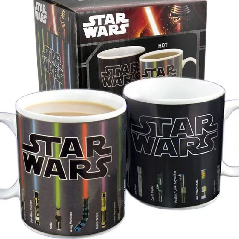 Hot Sale New Fashion Tea Coffee Mug Magic Mugs Cup Change Color Lightsaber Heat Reveal Ceramic Mug light saber glasses model