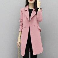 2017New Hot Sale Woman Wool Coat High Quality Winter Jacket Women Slim Woolen Long Cashmere Coats
