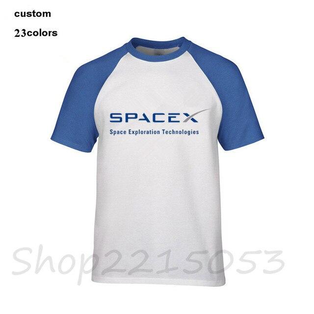 0950a75d 2018 SpaceX Space X Logo T-Shirt Men's Popular Cool Custom Short Sleeve  Boyfriend Plus Size 3XL T shirts simple style Tee tshirt