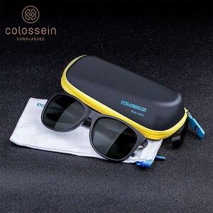 Image 5 - COLOSSEIN Female Sunglasses Men Polarized Classic TR90 Square Glasses Frame Men Sunglasses Vintage Driving Sun Glasses Eyewear