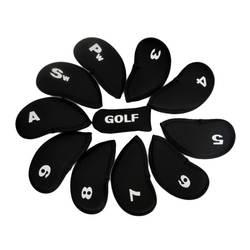 Лидер продаж! Новое поступление 10 шт. гольф клуба глава Обложка Утюг клюшки защитные колпаки комплект неопрен черный для вашего спорт Th