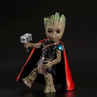 Avengers Infinity War Tree Man Cosplay Thor with Hammer Mjolnir PVC Action Figure Collectible Model Anime Figure Toys Doll 26cm