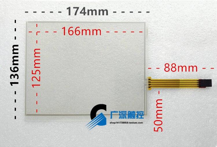 Оригинальный новый 10.4-дюймовый 4 резистивный сенсорный экран Четыре-промышленный компьютер СКМ тачпад 234*178