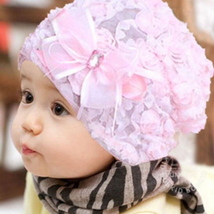 Hilfreich Neue Spitze Baby Hut Für Mädchen, Neugeborenen Requisiten Für Fotografie Mädchen Caps, Mode Kinder Blume Cap Infant Mützen Baby, Kinder Sommer Hüte