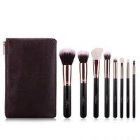 MSQ 8pcs Makeup Brushes Set Comestic Powder Foundation Rose Gold Tube Brush Eyeshadow Eyeliner Lip Beauty