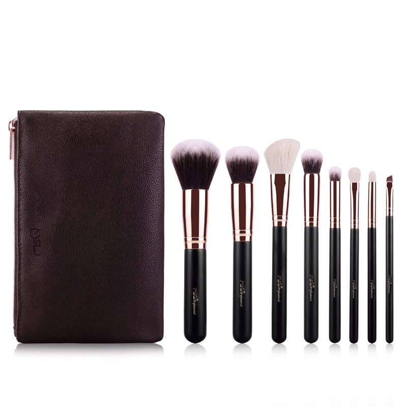 MSQ 8pcs Makeup Brushes Set Comestic Powder Foundation Rose Gold Tube Brush Eyeshadow Eyeliner Lip Beauty Make up Brush Tools купить