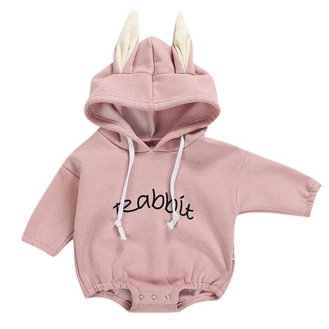 Todder ילד חדש נולד תינוק בגדי ילדה ילד ארנב מכתב סווטשירט חולצות אביב סתיו בגדי בגד גוף סוודר תינוק תלבושות