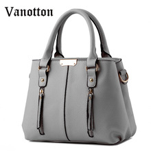 2016 New Arrival Women's Fashion Brand Casual Tote Bag for Women PU Leather Handbag Shoulder Bag Ladies Messenger Bag
