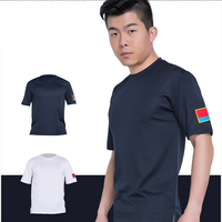 Military Uniform T shirt Antibacterial Round Neck Short Sleeves Men Us Army German Police Uniforms Costume Women Combat Shirt