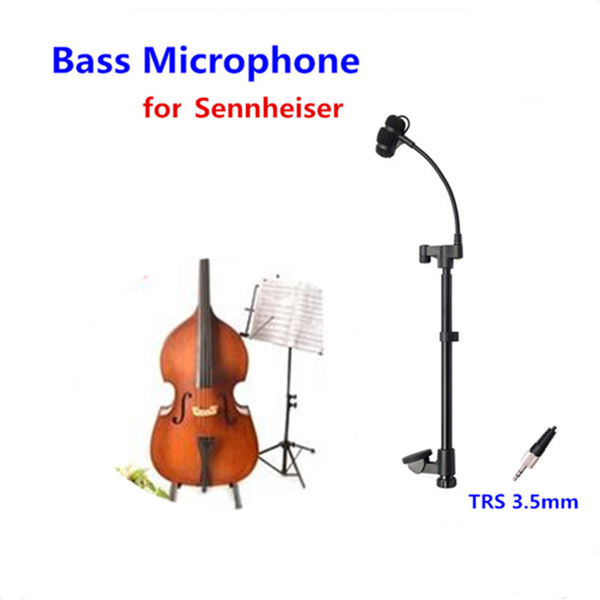 лучшая цена Professional Instrument Bass Microphone Condenser Mikrofon for Sennheiser Wireless System Transmitter 3.5mm Screw Jack Microfone