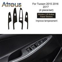 Atreus интерьер декоративные углерода волокно отделкой наклейки для автомобиля Auot интимные аксессуары hyundai Tucson 2017 2016 2015 2018