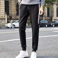 2017 spring fall hip hop style white Stripes printed harem pants pant mens sweatpants for men Drawstrings Trousers Black