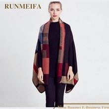 RUNMEIFA Scarf Women acrylic Tartan scarves Tartan Plaid Scarf 2017 Cozy Checked Blanket Oversized Wrap