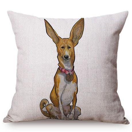 Pet Dog Animals Funny Style Cushion Cover Dachshund Schnauzer Dog Children Like Cotton Linen Sofa Decorative Throw Pillow Case M110-5
