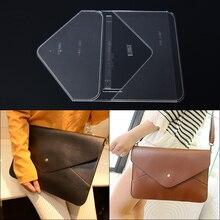 1 комплект прозрачный акриловый шаблон для трафарета для поделок из кожи ручной работы для женщин конверт сумка на плечо Вышивка Узор 34*24*1 см