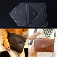 1set Transparent Acrylic Stencil Template For DIY Leather Handmade Craft women Envelope Shoulder bag Sewing Pattern 34*24*1cm