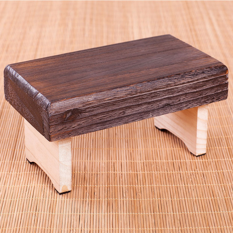 Wood Ergonomic Meditation Bench- Portable Design With Folding Legs Wooden Low Seat For Meditations, Yoga, Prayer, Seiza And Kids