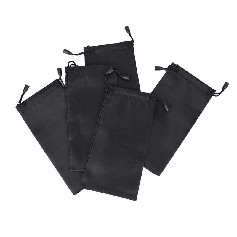 Saco de óculos de sol de microfibra, bolsa preta para óculos de sol, de vidro, bolsa personalizada, 1 conjunto