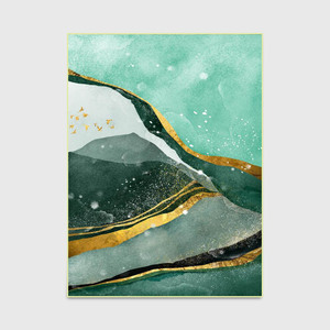 Image 3 - Nordique abstrait vert foncé doré texture maison chambre chevet entrée ascenseur tapis de sol canapé table basse tapis antidérapant