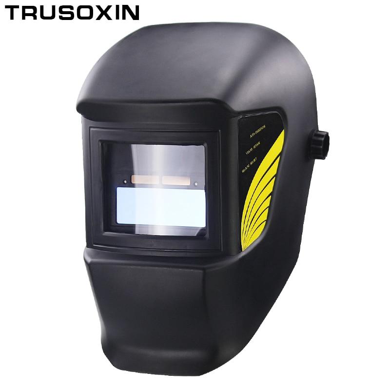 цены Light Li Battery DIN11 Solar Auto Darkening Electric Welding Mask/Helmet/Welder Cap for Welding Equipment and Plasma Cutter