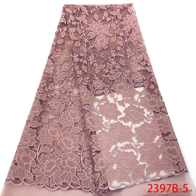 Best Selling Onion Color French Nigerian Lace Fabrics African Wedding African French Tulle Mesh Net Laces