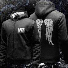 THE WALKING DEAD men hoodies fleece jacket men'S casual brand clothing sweatshirt winter cardigan zipper coat in free shipping