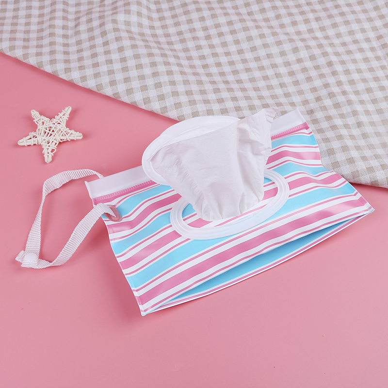 Nappy Changing Baby Wet Wipes Bag For Baby Skin Care Outdoor Travel Eco-friendly Clutch And Clean Wipes Container Reusable Wet Wipes Cover Mother & Kids