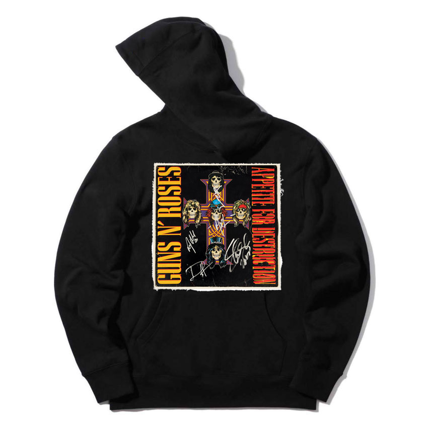 guns n roses acdc classic rock band posters cloth patchwork design cap sweatshirts Spring Autumn Hoodies