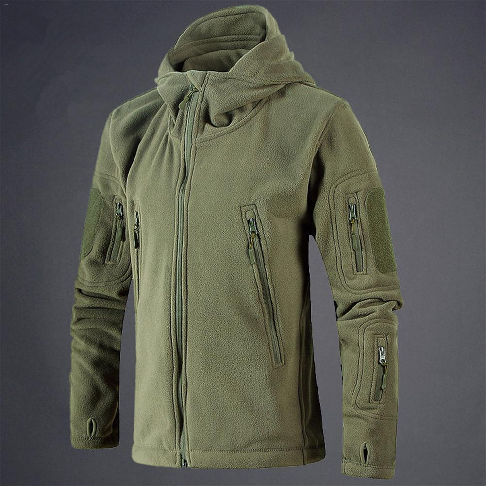Men Jacket Coat Military Tactical fleece jacket Uniform Soft Shell Casual Hooded Jacket Men Thermal army Clothing
