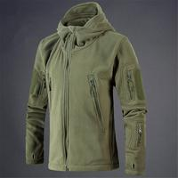 Men Jacket Coat Military Tactical fleece jacket Uniform Soft Shell Casual Hooded Jacket Men Thermal army Clothing