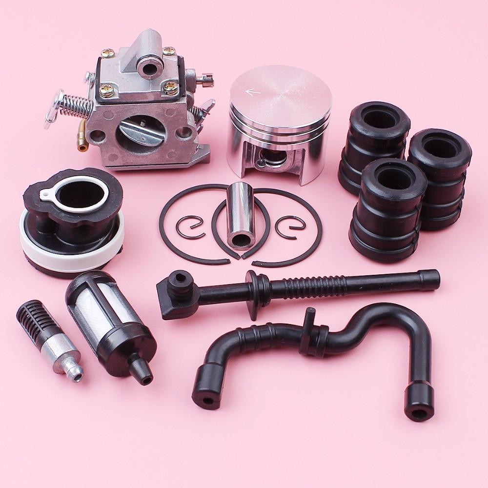 Carburetor 38mm Piston For Stihl MS180 018 MS 180 Zama C1Q-S57 Carb AV Buffer Intake Manifold Fuel Oil Filter Hose Kit бензопила stihl ms 180 c be 16 picco