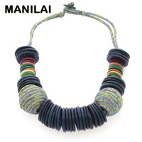 MAINILAI Handmade Beach Bohemian Statement Necklace For Women 2017 New Design Choker Coconut Shell Collar Necklace