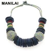 MAINILAI Handmade Beach Bohemian Statement Necklace For Women 2017 New Design Choker Coconut Shell Collar Necklace