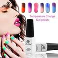 Saviland 1pcs 7ml Temperature Change Chameleon Color UV Nail Gel Polish Varnish Change Manicure Esmalte Nail Gel