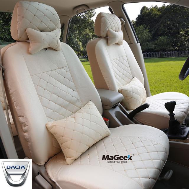 Universal tampa de assento do carro Dacia Logan Sandero para Espanador acessórios do carro etiqueta do carro