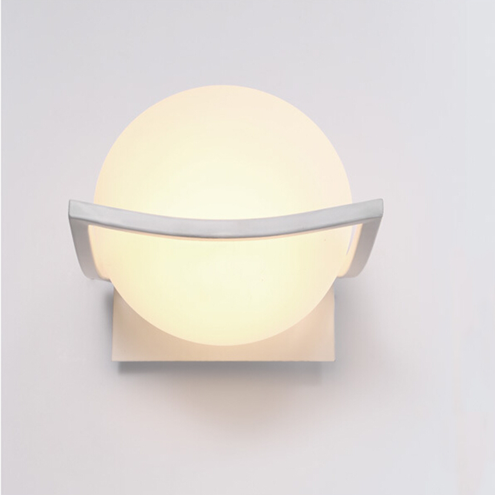 Novelty LED Wall Lamps Glass Ball Wall Lights For Home Decor E27 AC220V For Wall/Kitchen/Bedroom Home Art Deco home improvement marble stone mosaic tiles natural jade style kitchen backsplash art wall floor decor free shipping lsmb101