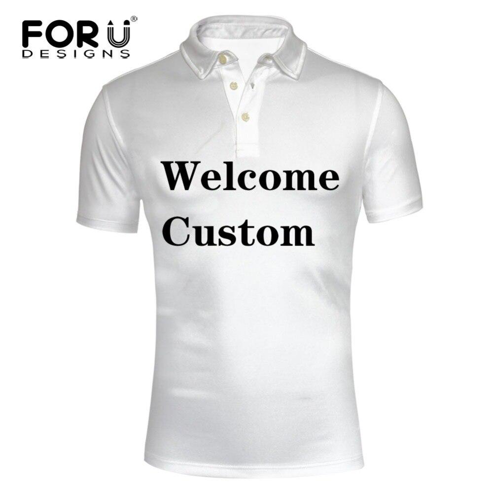 Forudesigns Custom Polo Shirt For Men High Quality 3d Printing On