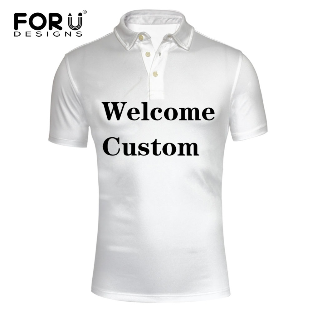 FORUDESIGNS Custom   Polo   Shirt for Men High Quality 3D Printing on   Polo   Shirts Male Welcome Customized Drop Shipping Short Sleeve